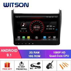 Четырехъядерные процессоры Witson Android 9.1 DVD GPS для VW Поло 2016 встроенный модуль WiFi
