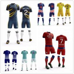 2019 kan het Nieuwe Voetbal Jersey van de Sublimatie van de Stijl Om het even welke Kleur het Aangepaste Vrije Verschepende Volledige Team Jerseys zijn van de Sublimatie