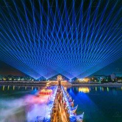 À prova de RGB de alta potência 30W girado à luz do laser laser landmark