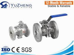 150lb/300lb 스테인리스 스틸 2PC 플랜지 볼 밸브(SS 핸들 포함