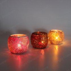 Волшебный круглые стекла при свечах держателями для Свадебное