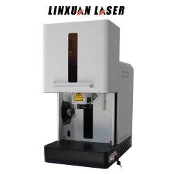 Дешевые цены маркировка лазерной гравировки машины Raycus 10W 20W 30W 50W YAG вращающегося 3D-Mini металлический переносной оптическое волокно лазерной маркировки