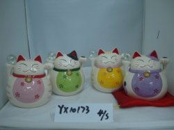 A Fortune Cat Porcelana Piggy Banco de Poupança