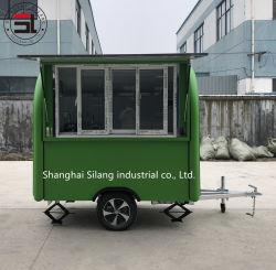Улица мини закуски продовольственная корзина, зеленый для использования вне помещений Fast Food прицепа