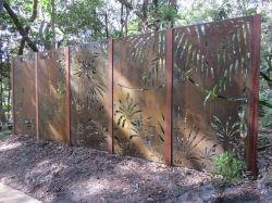 Piscina Exterior decorativas cortados a laser Jardim fachada metálica de Aço de privacidade Telas de folhas de metal