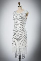 Heiße Verkaufs-Artreizend Sequins-Troddel-Abend-Kleid