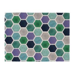 Cotone Tablemat di tela di stampa delle mattonelle del favo per il feltro Placemat del bambino