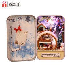 Última populares de bricolage Miniatura de estanho Doll House Kids Birthday dons/Promoção dons/dons de madeira