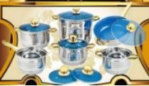 7 stap 14 Reeksen van de Reeks van Cookware van het Roestvrij staal
