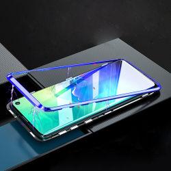 360 het tweezijdige Geval van de Telefoon van de Adsorptie van het Glas Magnetische voor Samsung S10 plus