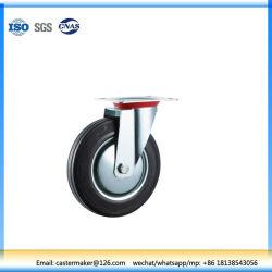 Промышленные черная резиновая поворотный самоустанавливающегося колеса