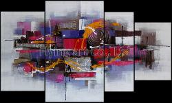 Résumé de l'huile d'art de la peinture murale de groupe