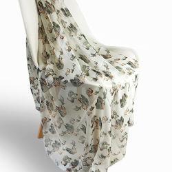 Digitale Afgedrukte Sjaal whare-90%Modal &10%Cashmere voor Dame