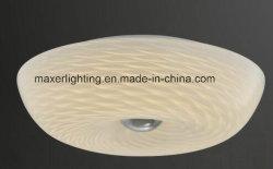 Simple Ronda LED lámpara de techo de cristal con gran cantidad de lúmenes