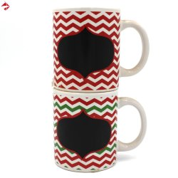 Riga promozionale tazza di ceramica di zigzag del regalo della tazza di caffè di disegno