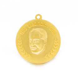Die Casting Great People Award Gold Medal Brooch Basketball Clip Case