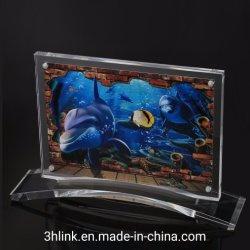 Die Andenken-kundenspezifischer Form-Thermometer-Acrylfoto-Rahmen mit Magnet-Rückseite