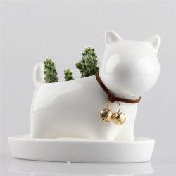 Perrita Maceta de plantas suculentas de cerámica de porcelana Jardín sembradora comestibles