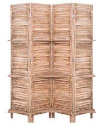 Деревянные складные зал делитель декоративных экранов с 3 слоев облицованных дранкой естественные цвета