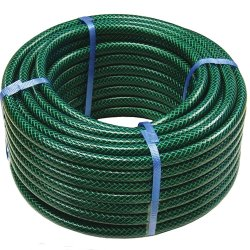 Trenzado de fibras flexibles de PVC reforzado de tubo de PVC flexible de la planta de jardín manguera de jardín para el riego de agua