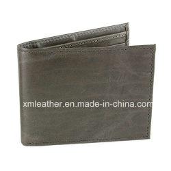 Le design de mode court portefeuille en cuir de buffle d'affaires pour les hommes