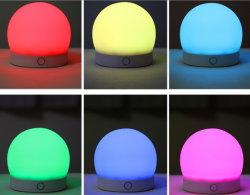 La lumière de l'humeur de silice coloré rechargeable lumière intérieure de la lumière de nuit