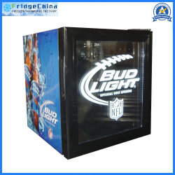 Mini puerta de cristal en posición vertical Refrigerador de la pantalla de bebidas frigo-bar de hotel o de promoción de bebidas