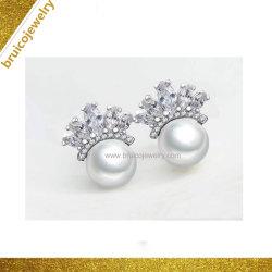 حارّة عمليّة بيع [جولّري] عبقريّ فضة مجوهرات دعامة حلق مع لؤلؤة
