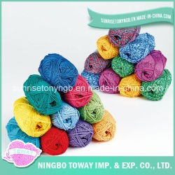 Fils de bonneterie à bon marché de gros imprimé coloré de tissus en acrylique de colorant (T001)