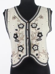 Mujeres Camiseta Cuello V bordar Toallas Ropa de abrigo acogedor suéter tejido de alta calidad