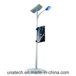 Outdoor rue Pole Média de la publicité de la lampe témoin LED en PVC post bannière Boîte à lumière