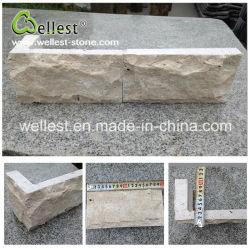 Comercio al por mayor de Revestimiento de pared de piedra de setas travertino beige natural