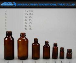 8ml-131ml bernsteinfarbiges Glasöl, Sirupe, Medizin-Flasche mit Schutzkappe