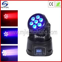 7X10W 4en1 Mini LED Quad couleur Moving Head Wash lumière