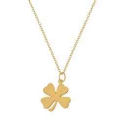 새로운 도착 보석 18K 금 도금 샴락 목걸이 도매 925 스털링 실버 패션 클로버 목걸이