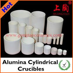 さまざまなサイズの物質的なアルミナの円柱るつぼのアルミナの製陶術のるつぼ