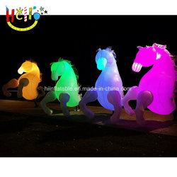 Desfile del Festival de iluminación LED decoración caballo inflables inflables Disfraces