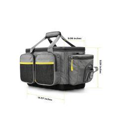 حقيبة ذات تصميم عسكري مخصصة لصيد السمك، حقيبة تخزين ذات تصميم خاص بصيد السمك، وبلاطة تخزين مقاومة للماء، مع حزام كتف مضاف وقاعدة مانعة للسلق مناسبة