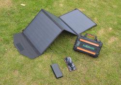 Bewegliche Solaraufladeeinheit des Sonnenkollektor-60watt für Laptop-Handy