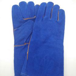 أعمال السلامة الكاملة من Palm مع جلد منقسم باللون الأزرق بحجم 14 بوصة 16 بوصة قفاز مع شهادة CE