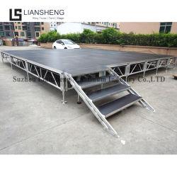Hoogwaardige verstelbare draagbare aluminium podium apparatuur voor een concert Weergeven