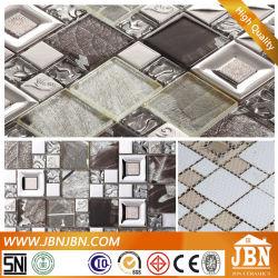 Prata Mosaico de vidro laminado para o corredor (M655003)