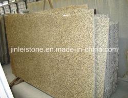 Jaune de la peau de tigre Pierre naturelle dalle de granit Comptoir de granit