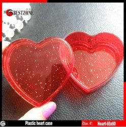 San Valentín Corazón decoración cajas contenedores de plástico