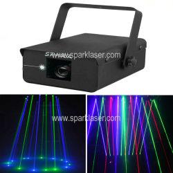 Enkele laserstraal voor regen in rood/groen/blauw