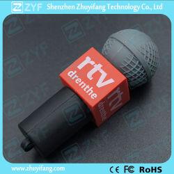 Microfone de promoção do programa de TV Shape Unidade Flash USB (ZYF1073)