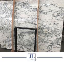 Bianco Carrara Arabescato Fishbelly Branco Branco Ariston Volakas Floco de Neve em mármore branco orientais SL para Tabela de parede Bancada de cozinha banheiro piso de mosaico de cortesia
