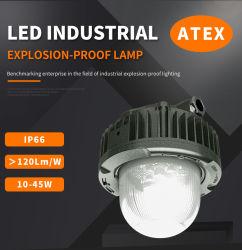 مقاومة للماء IP66 مقاومة للتوهج بقوة 60 واط ومقاومة للانفجار الصناعي ATEX LED في تجهيزات إضاءة عالية