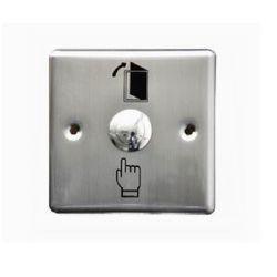 Bouton de sortie de porte en acier inoxydable avec boîtier métallique (ES-9086)