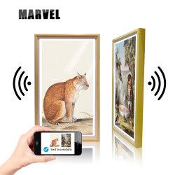 Sistema operativo Android Imagen mando a distancia eléctrico de madera Marcos de fotos digitales